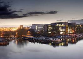 Institution featured at 70 percent quality 594  brayford campus panorama shot evening uni lincoln